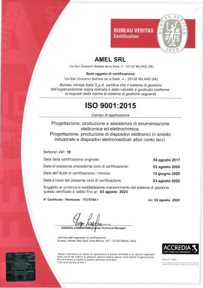 Amel Certification ISO 9001